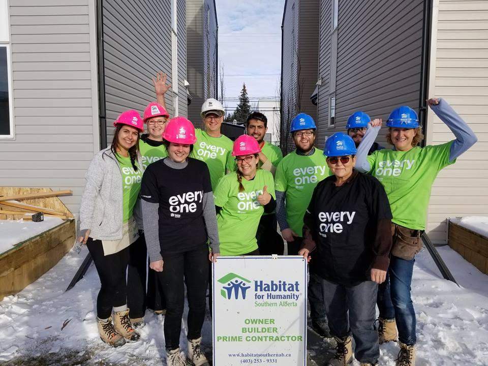 Western Financial Group team members enjoy a day volunteering at Habitat for Humanity
