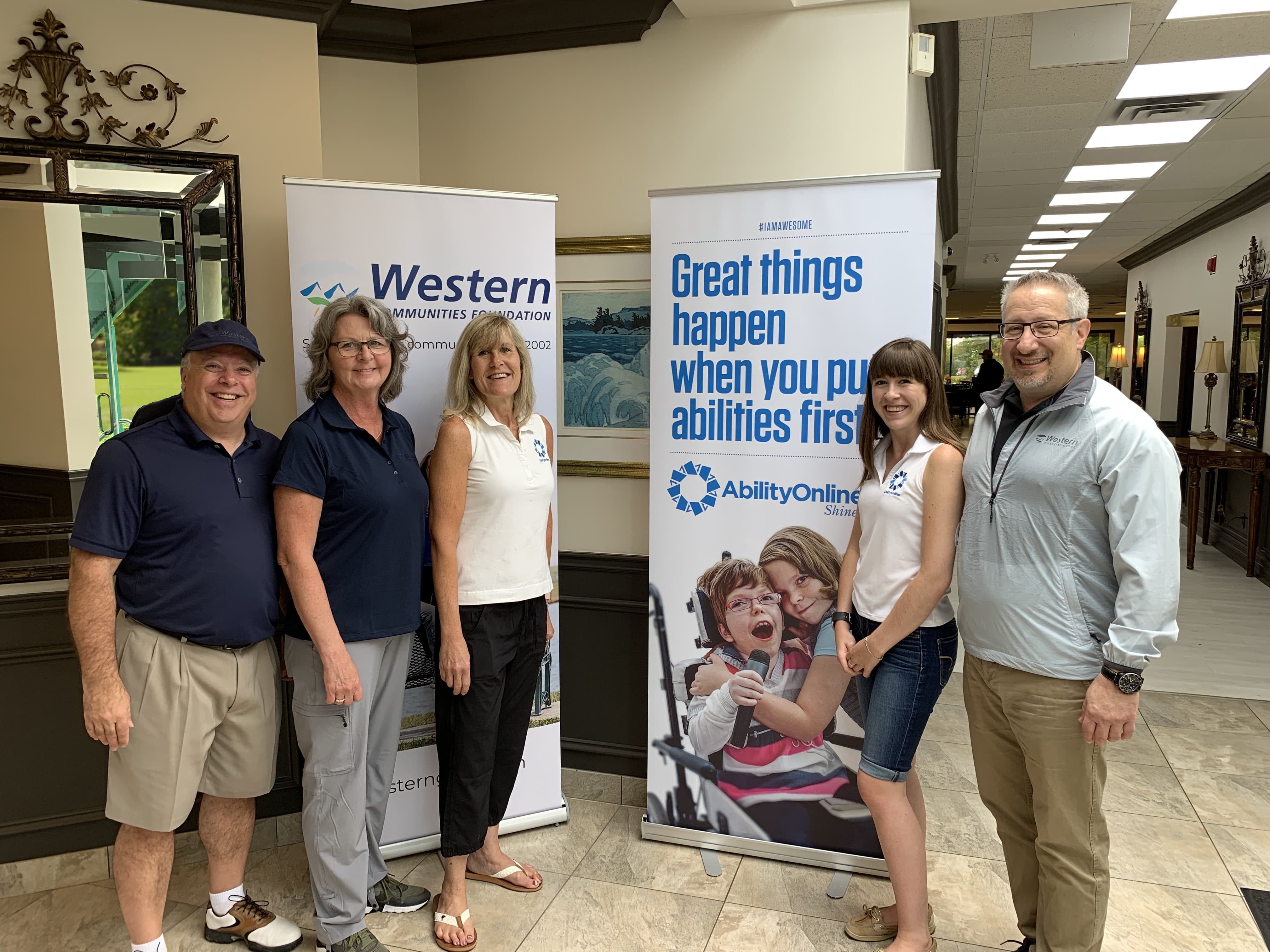 Western Financial Group's team joined staff with Ability Online at the 22nd Axion Charity Challenge golf tournment