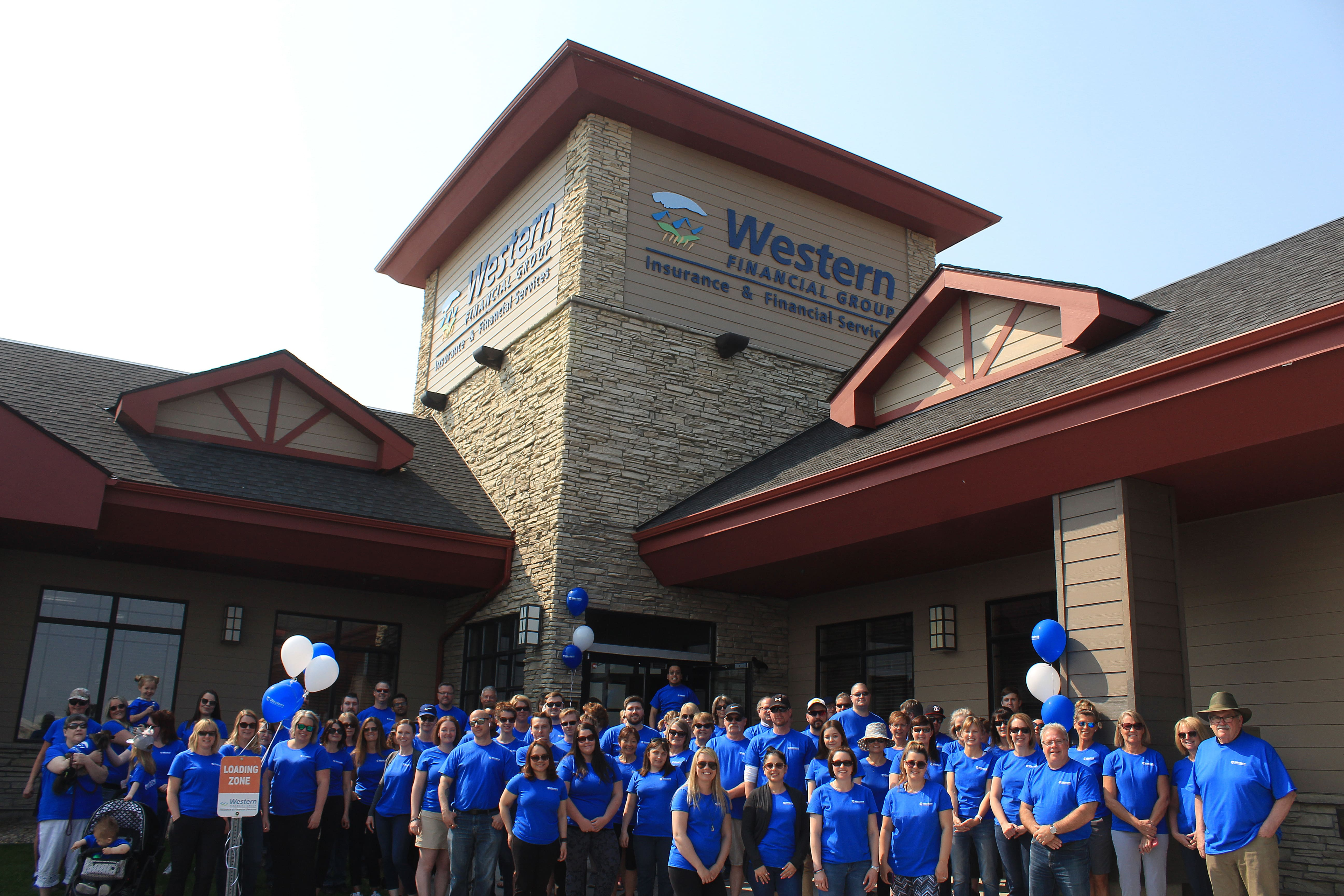 The Western Financial Group headquarters team prior to the National Walk to Support the Cause