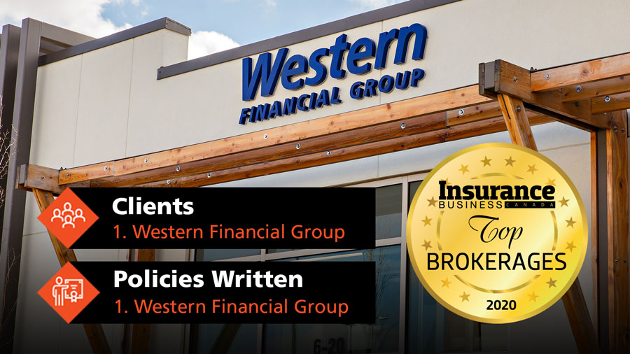 The official seal for the Top 10 Brokerage list is overlaid over our West Lethbridge branch.