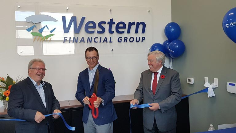 Western Financial Group's West Lethbridge brokerage was officially opened on June 6, 2019.
